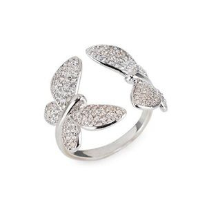 CZ by Kenneth Jay Lane Butterfly Ring Size 6